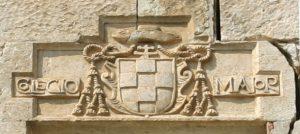 Escudo del colegial del Mayor de San Ildefonso de Alcalá de Henares