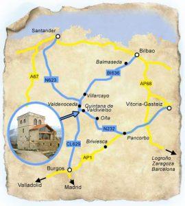 Localización de Quintana de Valdivieso